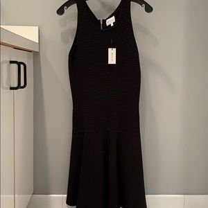 Milly black fit & flare dress- NWT - small